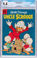 Silver Age (1956-1969):Humor, Uncle Scrooge #13 (Dell, 1956) CGC NM 9.4 Off-white to white pages....