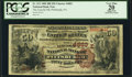 National Bank Notes:Pennsylvania, Pittsburgh, PA - $50 1882 Brown Back Fr. 513 The Lincoln NB Ch. #(E)4883. ...