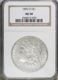 Morgan Dollars, 1895-O $1 AU50 NGC....