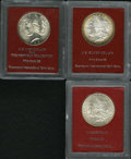 Lot of Three Paramount Silver Dollars, One Ex: Redfield