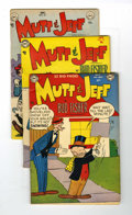 Golden Age (1938-1955):Humor, Mutt and Jeff Group (DC, 1951-55) Condition: Average FN.... (Total: 5 Comic Books)