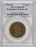 Colonials, 1783 1C Washington & Independence Cent, Draped Bust, Copper Restrike, Engrailed Edge PR65 Brown PCGS....