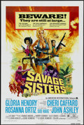 "Movie Posters:Bad Girl, Savage Sisters (American International, 1974). One Sheet (27"" X41"") Style A. Bad Girl. ..."