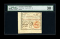 Colonial Notes:Georgia, Georgia June 8, 1777 $4 PMG Very Fine 30 EPQ....