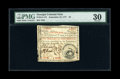 Colonial Notes:Georgia, Georgia September 10, 1777 $5 PMG Very Fine 30....