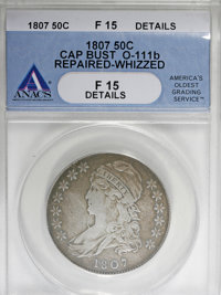 1807 50C Bearded Goddess--Repaired, Whizzed--ANACS. Fine 15 Details....(PCGS# 6086)