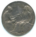 Expositions and Fairs, 1901 Pan-American Exposition Award. Lavin-TM103. Silver, 64 mm. Presented to the Bolivian Government. XF Details, small tool...