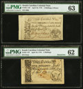 Colonial Notes:Maryland, Four Notes from Three Colonies - Maryland August 14, 1776 $2 PCGSApparent About New 53, Pennsylvania March 20, 1773 16s PCGS ...(Total: 4 notes)