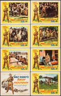 """Movie Posters:Western, Davy Crockett, King of the Wild Frontier (Buena Vista, 1955). LobbyCard Set of 8 (11"""" X 14""""). Western.. ... (Total: 8 Items)"""
