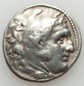 Ancients:Greek, Ancients: MACEDONIAN KINGDOM. Alexander III the Great (336-323 BC).AR tetradrachm (16.92 gm). VF....