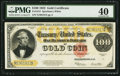 Large Size:Gold Certificates, Fr. 1215 $100 1922 Gold Certificate PMG Extremely Fine 40.. ...