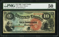 Large Size:Legal Tender Notes, Fr. 96 $10 1869 Legal Tender PMG About Uncirculated 50.. ...
