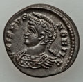 Ancients:Ancient Lots , Ancients: ANCIENT LOTS. Roman Imperial. Lot of two (2)Constantinian Era (AD 307-337) AE3 or reduced folles from Londonmint. XF-AU.... (Total: 2 coins)