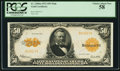 Large Size:Gold Certificates, Fr. 1200a Mule $50 1922 Gold Certificate PCGS Choice About New 58.. ...