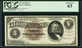 Large Size:Silver Certificates, Fr. 264 $5 1886 Silver Certificate PCGS Choice New 63.. ...