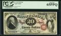 Large Size:Legal Tender Notes, Fr. 129 $20 1878 Legal Tender PCGS Gem New 65PPQ.. ...