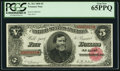 Large Size:Treasury Notes, Fr. 361 $5 1890 Treasury Note PCGS Gem New 65PPQ.. ...