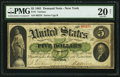 Large Size:Demand Notes, Fr. 1 $5 1861 Demand Note PMG Very Fine 20 Net.. ...