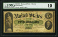 Large Size:Demand Notes, Fr. 3 $5 1861 Demand Note PMG Choice Fine 15.. ...