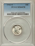 Mercury Dimes: , 1942-S 10C MS66 Full Bands PCGS. PCGS Population: (638/203). NGC Census: (285/93). CDN: $150 Whsle. Bid for problem-free NG...
