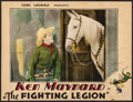 "Movie Posters:Western, The Fighting Legion (Universal, 1930). Trimmed Lobby Card (10"" X 13""). Western.. ..."