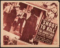 "The Spider's Web (Columbia, 1938). Lobby Card (11"" X 14"") Chapter 5 -- ""Shoot to Kill."" Serial"