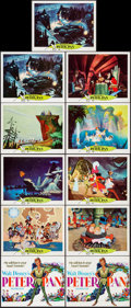 """Movie Posters:Animation, Peter Pan (Buena Vista, R-1969). Lobby Card Set of 9, Title LobbyCard, & Lobby Card (11"""" X 14""""). Animation.. ... (Total: 11Items)"""