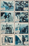 """Movie Posters:War, Hellcats of the Navy (Columbia, 1957). Lobby Card Set of 8 (11"""" X14""""). War.. ... (Total: 8 Items)"""