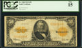 Large Size:Gold Certificates, Fr. 1200 $50 1922 Gold Certificate PCGS Fine 15.. ...