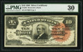 Large Size:Silver Certificates, Fr. 293 $10 1886 Silver Certificate PMG Very Fine 30.. ...