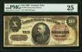 Large Size:Treasury Notes, Fr. 366 $10 1890 Treasury Note PMG Very Fine 25.. ...