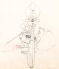 Animation Art:Production Drawing, Fantasia Mickey Mouse as the Sorcere...
