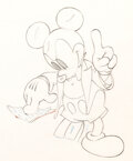 Animation Art:Production Drawing, Ye Olden Days Mickey Mouse and Minni...