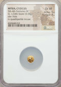 Ancients:Greek, Ancients: MYSIA. Cyzicus. Ca. 500-450 BC. EL 1/24 stater ormyshemihekte (0.58 gm). NGC Choice VF 5/5 - 4/5....