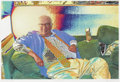 Texas:Early Texas Art - Modernists, JOHN LADD (b. 1960). Reclining Dude (Portrait of StanleyMarsh), 2006. Digitally manipulated color photograph. 15-1/2 x...