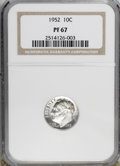 Proof Roosevelt Dimes: , 1952 10C PR67 NGC. NGC Census: (224/130). PCGS Population (331/26).Mintage: 81,980. Numismedia Wsl. Price for NGC/PCGS coi...