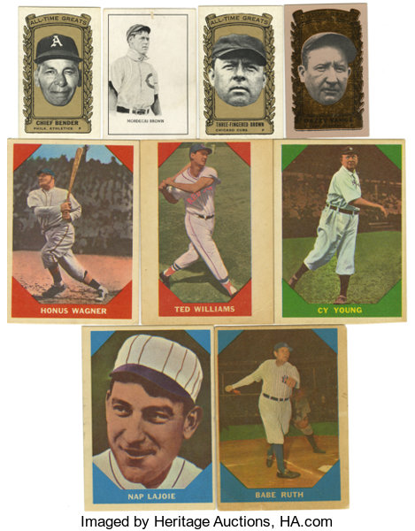 1950 1963 Baseball All Time Greats Group Lot Of 49 Group Of
