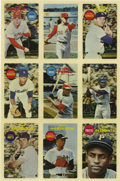 Baseball Cards:Lots, 1968 Topps 3-D Baseball Uncut Sheet of 9.. Updated conditionreport: Please note that our cataloger ...