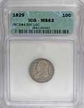 Bust Dimes, 1829 10C Small 10C MS63 ICG....