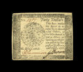 Colonial Notes:Continental Congress Issues, Continental Currency April 11, 1778 $40 Contemporary Counterfeit About New....