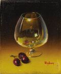 Texas:Early Texas Art - Impressionists, DALHART WINDBERG (b. 1933). Untitled Brandy Snifter and CherriesMiniature. Oil on artistboard. 1-1/2 x 1-1/4 inches (3.8 x ...