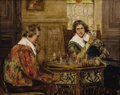 19th Century European, P.H. ANDREIS (Belgian 19th Century). Cavaliers PlayingChess, c. 1890. Oil on canvas. 15.75 x 20 inches. Signed lowerri...