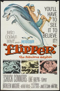 "Movie Posters:Adventure, Flipper (MGM, 1963). One Sheet (27"" X 41""). Adventure. ..."