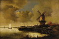 Fine Art - Painting, European, After JACOB VAN RUISDAEL (Dutch 1628-1682). Copy after The Millat Wijk-Bij-Duurstede, c. 1900. Oil on canvas. 29.5 x 43...