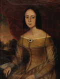 Fine Art - Painting, American:Antique  (Pre 1900), AMERICAN (Nineteenth Century). Portrait of a Woman before a Landscape . Oil on canvas. 30 x 24-1/2 inches (76.2 x 62.2 c...