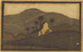 Texas:Early Texas Art - Drawings & Prints, FRANK REDLINGER (1909-1936). Untitled, early 1930s. Colorlinoleum block print on Japanese tissue. 4-1/2 x 6-3/4 inches ...