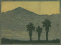 Texas:Early Texas Art - Drawings & Prints, FRANK REDLINGER (1909-1936). Untitled Yuccas in Silhouette,early 1930s. Color linoleum block print on Japanese tissue. ...
