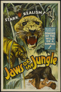 "Movie Posters:Adventure, Jaws of the Jungle (Jay-Dee-Kay Productions , 1936). One Sheet (27""X 41""). Adventure. ..."