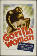 "Movie Posters:Bad Girl, Gorilla Woman (United Screen Associates, 1950). One Sheet (27"" X41""). Bad Girl.. ..."