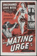 "Movie Posters:Miscellaneous, The Mating Urge (Citation Films, 1959). One Sheet (27"" X 41""). Miscellaneous. ..."